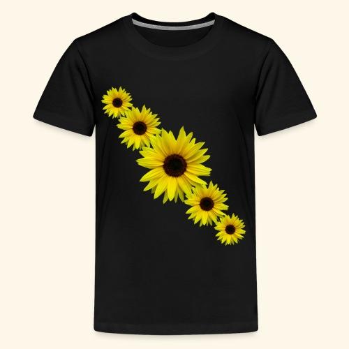 Sonnenblume, Sonnenblumen, Blumen - Teenager Premium T-Shirt