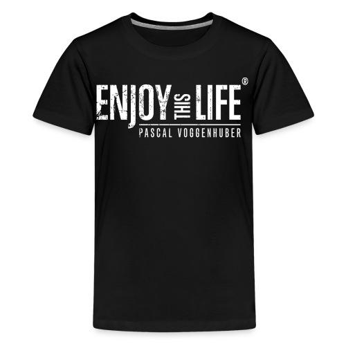 Enjoy this Life® Classic weiss Pascal Voggenhuber - Teenager Premium T-Shirt