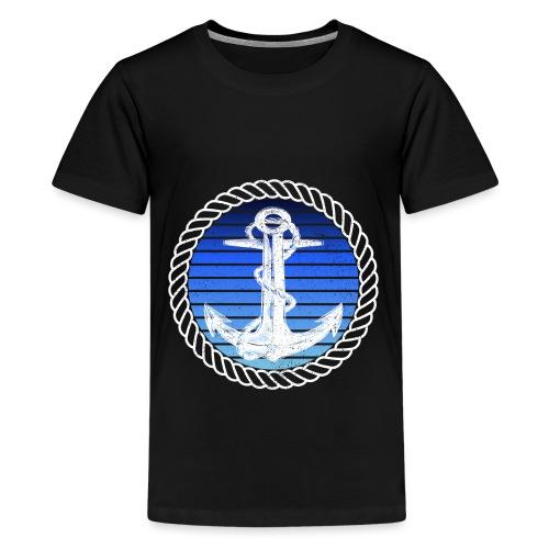 Anker maritimer Retrokreis Geschenkidee - Teenager Premium T-Shirt