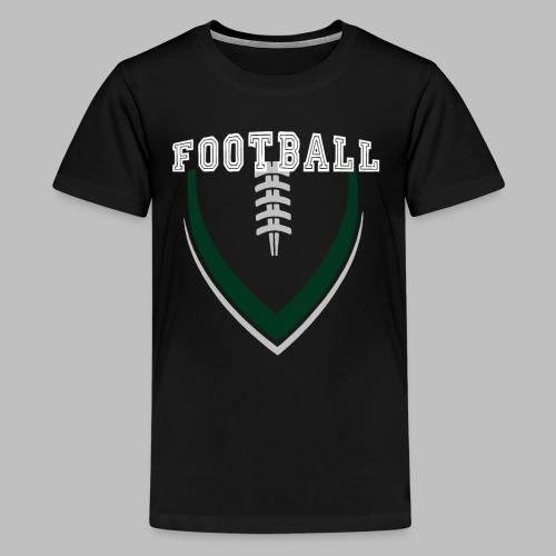 Football LOGO Ball American Football Geschenkidee - Teenager Premium T-Shirt