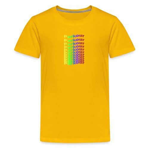 Parkour rainbow - Teenager premium T-shirt