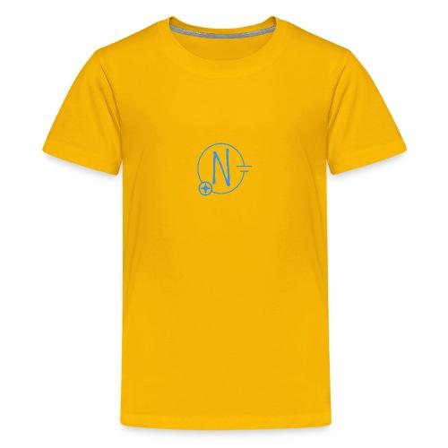Logo1 blau - Teenager Premium T-Shirt