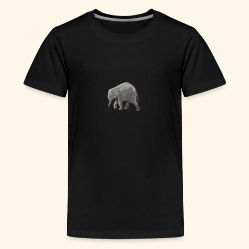 Baby elephant on a Mission - Teenage Premium T-Shirt
