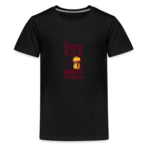 normandie rtt remet tournee biere alcool - T-shirt Premium Ado