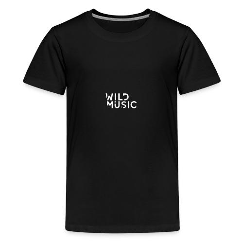 Wild Music Logo - Blanco - Camiseta premium adolescente
