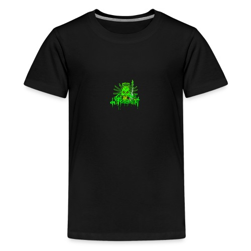 GFSkullOnlyColorShirt - Teenage Premium T-Shirt