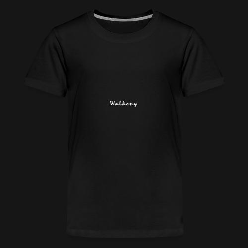Walkeny Schriftzug in weiß! - Teenager Premium T-Shirt