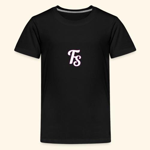 fs logo met een roze out line - Teenager Premium T-shirt
