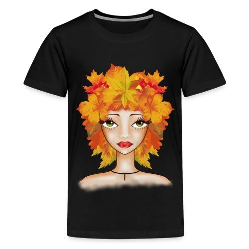 Muñeca Olga otoñal. - Camiseta premium adolescente