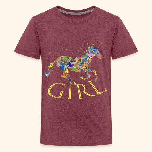 unicorn girl T-shirt - Maglietta Premium per ragazzi