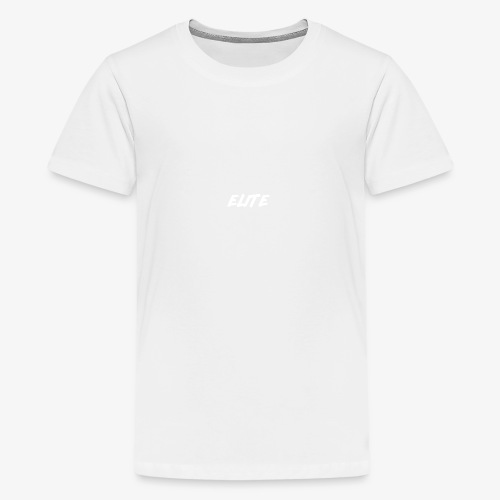 Elite-White - Teenage Premium T-Shirt