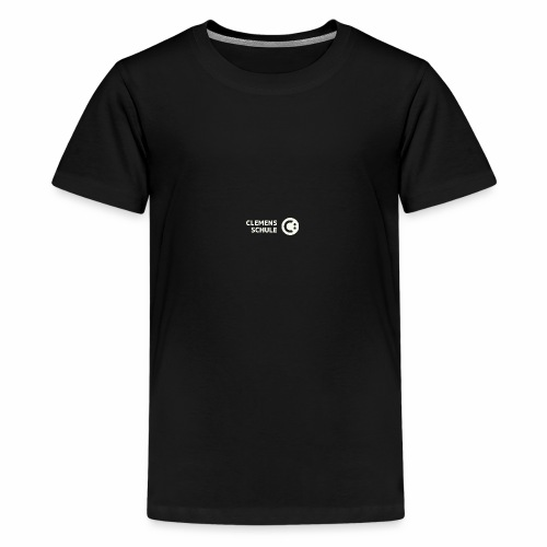 Teenager Premium T-Shirt - Schule,Clemens Schule,weiß,CLEMENS,Logo