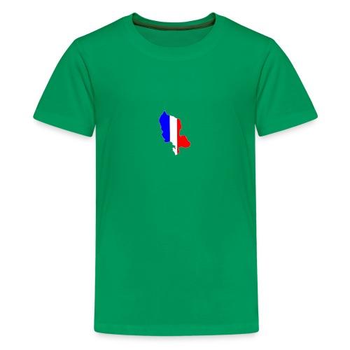 Carte Territoire de Belfort bleu blanc rouge - T-shirt Premium Ado