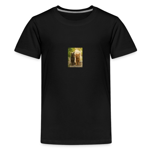 Tabby cat - Teenage Premium T-Shirt
