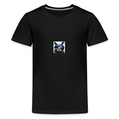 cool cat - Premium-T-shirt tonåring