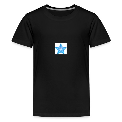 blue themed christmas star 0515 1012 0322 4634 SMU - Teenage Premium T-Shirt