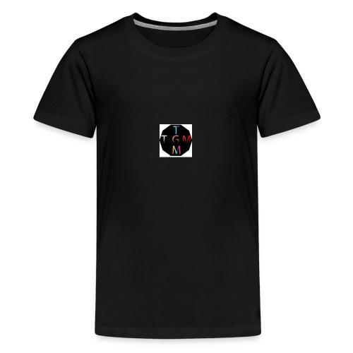 dinmammaslogga - Premium-T-shirt tonåring