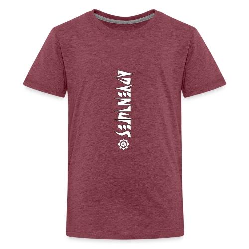 Jebus Adventures Vertical Stripe - Teenage Premium T-Shirt
