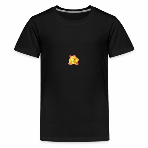 yellow rose - Teenage Premium T-Shirt