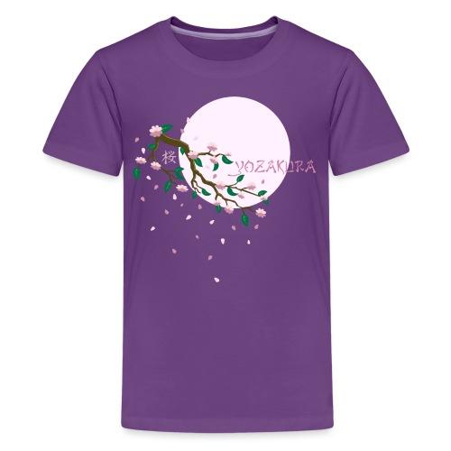 Cherry Blossom Festval Full Moon 1 - Teenager Premium T-Shirt
