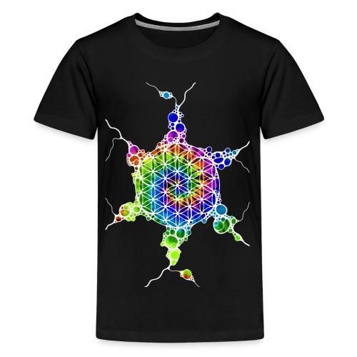 Flower Of Life Neuro Art 4 - Teenager Premium T-Shirt