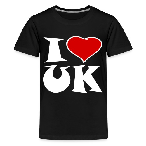 England - Ich Liebe UK - Teenager Premium T-Shirt