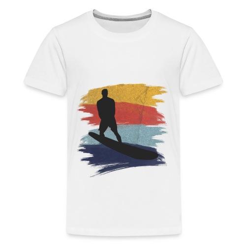 Wellenreiten Retro-Stil, Vintage - Teenager Premium T-Shirt