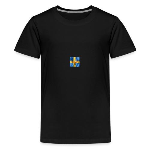 Swedish Phoenix klara färger - Premium-T-shirt tonåring