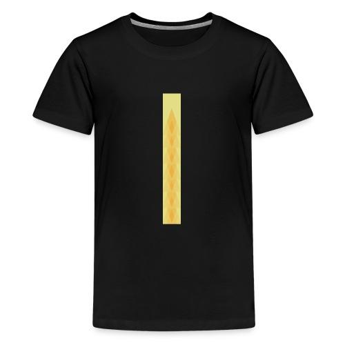 Vintage deco design orange and green triangles - Teenage Premium T-Shirt