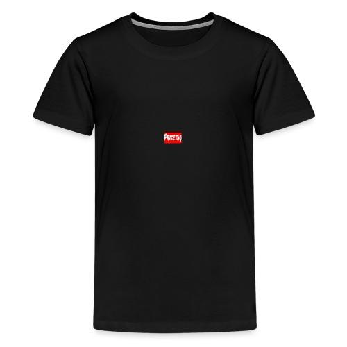 Red And White pricetag - Teenage Premium T-Shirt