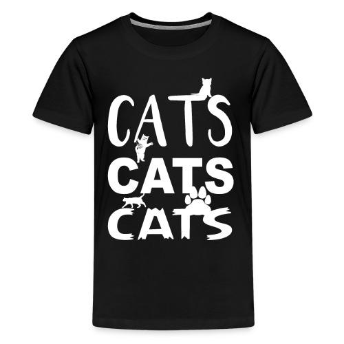 cats cats cats Weiss - Teenager Premium T-Shirt