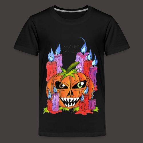 CANDLE PUMPKIN - T-shirt Premium Ado