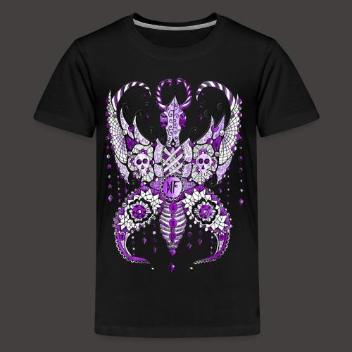 Papillon Lilou Violet - T-shirt Premium Ado