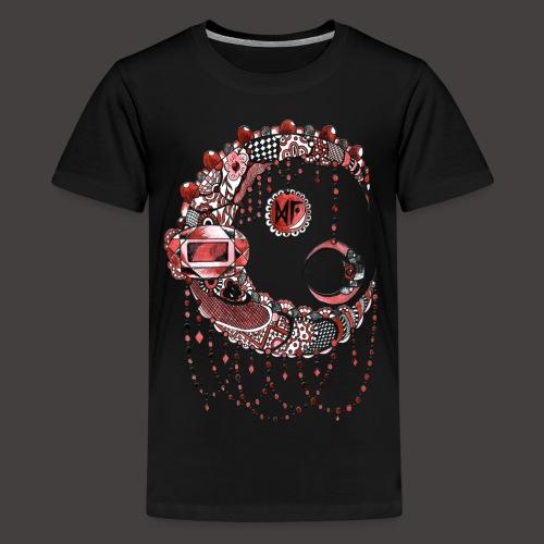 Lune dentelle Rouge - T-shirt Premium Ado