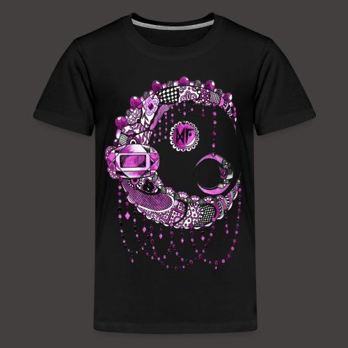 Lune dentelle Rose - T-shirt Premium Ado