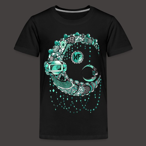 Lune dentelle Turquoise - T-shirt Premium Ado