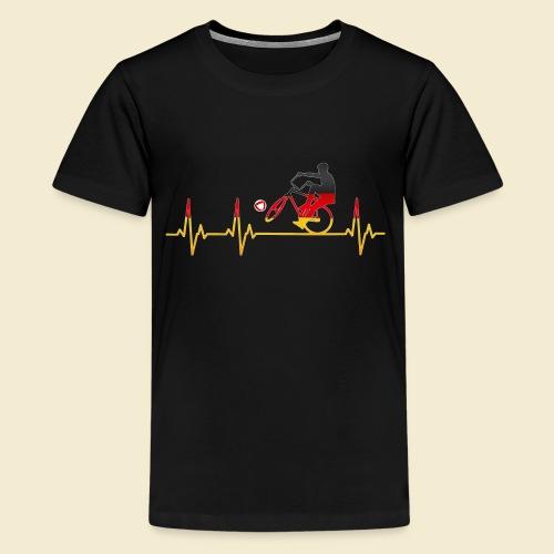 Radball   Cycleball Heart Monitor Germany - Teenager Premium T-Shirt