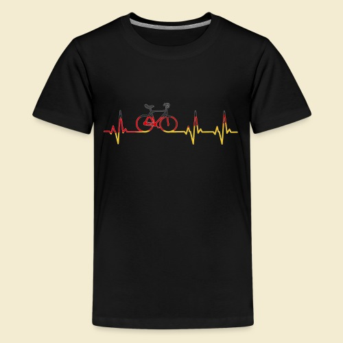 Kunstrad | Artistic Cycling Heart Monitor Germany - Teenager Premium T-Shirt
