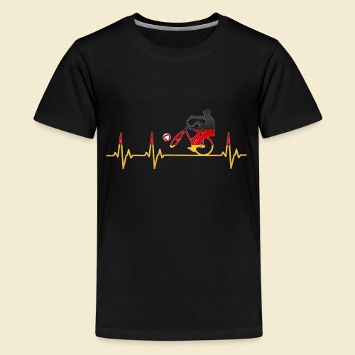 Radball | Cycleball Heart Monitor Germany - Teenager Premium T-Shirt