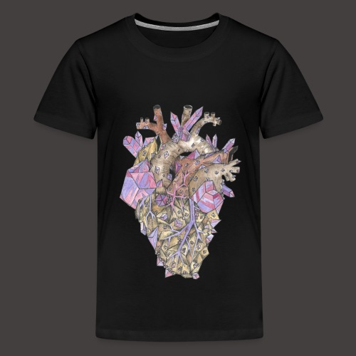 Le Coeur de Cristal Couleur - T-shirt Premium Ado