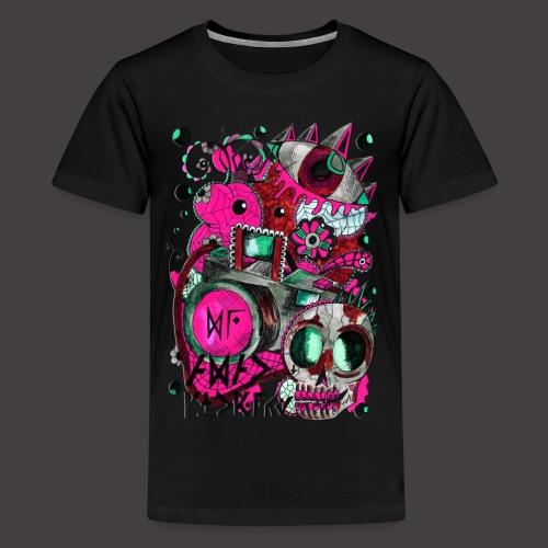 AGAC Picture Bleu et Rose - T-shirt Premium Ado