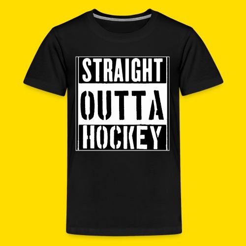 straight outta hockey // Eishockey Fun Shirt - Teenager Premium T-Shirt