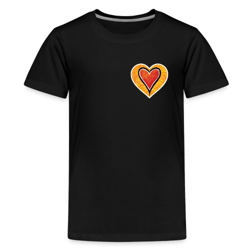 Red heart under Fire - Teenage Premium T-Shirt