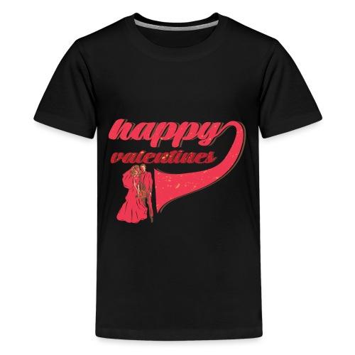 Fröhlicher Valentin Valentinstag Liebe Paar - Teenager Premium T-Shirt
