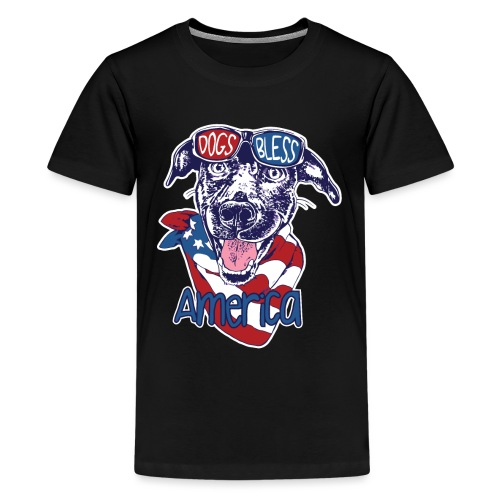 Hund und Hunde segnen Amerika Illustration - Teenager Premium T-Shirt
