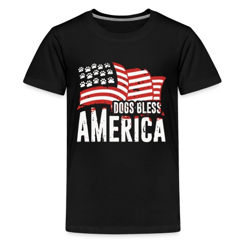 Hund und Hunde segnen Amerika Illustration - Teenager Premium T-Shirt