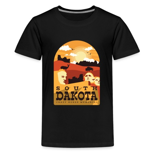 Cooles South Dakota Design online - Teenager Premium T-Shirt