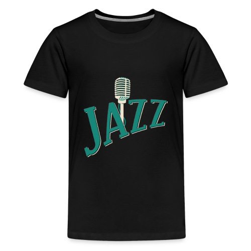 Jazz Mikrofon - Teenager Premium T-Shirt
