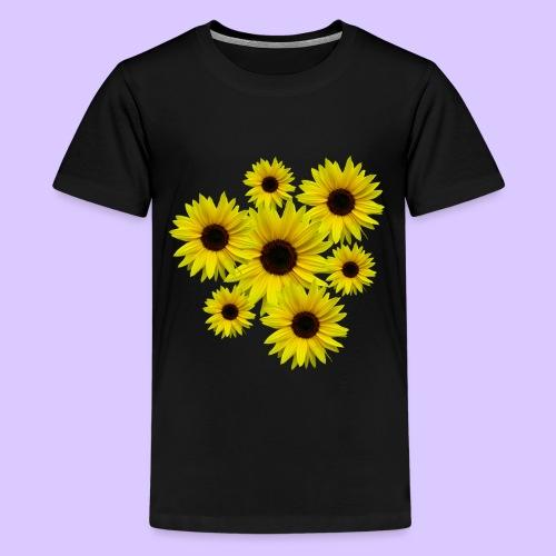Sonnenblumenstrauß, Sonnenblumen, Blumen, Blüten - Teenager Premium T-Shirt