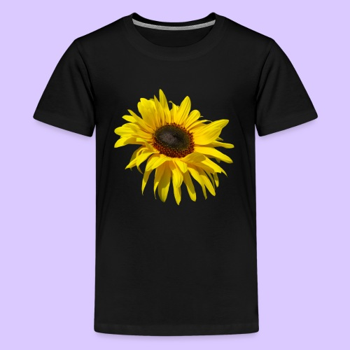 blühende Sonnenblume, Sonnenblumen, Blumen, Blüten - Teenager Premium T-Shirt